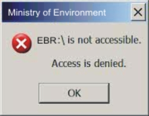 MOE EBR access denied