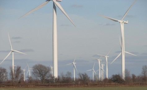 CHATHAM - KENT ONTARIO KRUGER ENERGY PORT ALMA WIND FROM MERLIN ROAD 5